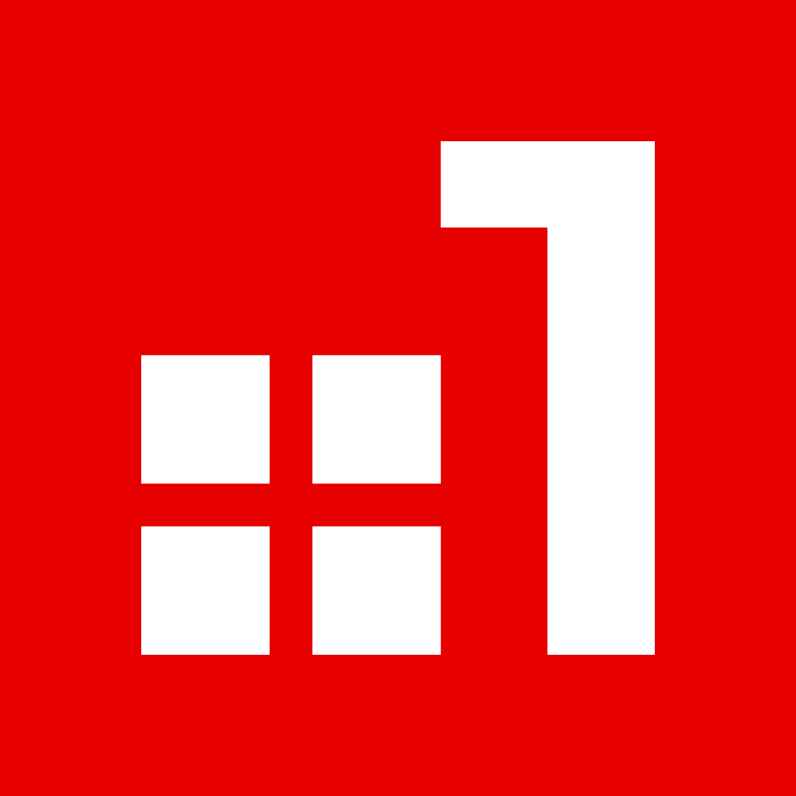 LH symbol with borders WHITE - RED BGb